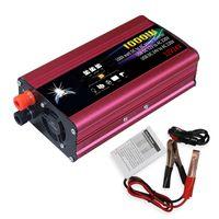 Auto Wechselrichter Led-anzeige Stromrichter Intelligente Kuehlung Universal Modified Sinus 1000 Watt DC 12 V / 24 V zu 220 V AC
