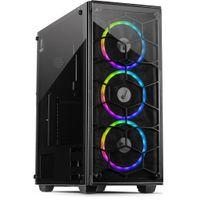 Inter-Tech C-907 Cobweb - Full-Tower - PC - Metall - Gehärtetes Glas - Schwarz - ATX,ITX,Micro ATX - Inter-Tech