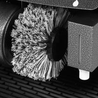 Wohnling Schuhputzmaschine automatisch mit 3 Bürsten System elektrisch Schuhputzautomat hoher Comfort Schuhputzer Schuh Poliermaschine mit Gummimatte