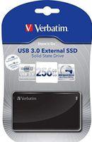Verbatim SSD 256GB 90/150 External SSD USB 3.0