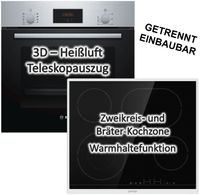 Bosch Einbau-Backofen HBF114ESO mit Gorenje Glaskeramikkochfeld ECT643BX - autark, 60 cm