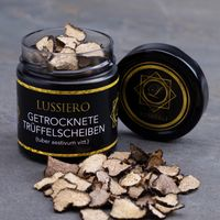 Lussiero Trüffel getrocknete Sommer Trüffel Tuber Aestivum vitt. Grade-A, Edeltrüffel Scheiben, Inhalt: 20g