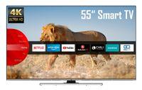JVC LT-55VU8055 55 Zoll Fernseher (4K Ultra HD, HDR, Triple Tuner, Smart TV, Bluetooth, Works with Alexa)