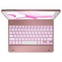 Markenlos Buchtyp-Schutzhülle mit Tastatur für das iPad (2018) / (2017) / Air (2) / Pro 9.7