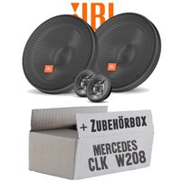 Lautsprecher Boxen JBL 16,5cm System Auto Einbausatz - Einbauset für Mercedes CLK W208 Front - justSOUND
