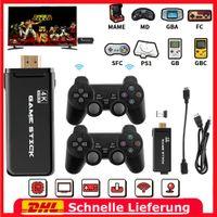 2.4G Wireless Controllers HDMI Spielekonsole Retro Spiele 4K Ultra HD Game Stick Mini 4K HDMI TV Game Stick 10000+ Retro Classic Spielekonsole mit 2 Controllern