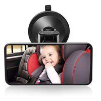 Auto-Babyspiegel, verstellbarer Rücksitzspiegel für Babys, Rückspiegel mit Saugnapf, Rücksitzspiegel, Baby-Kinderrückspiegel.