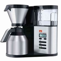 Melitta Aroma Elegance Therm Deluxe Schwarz-Edelstahl Filter-Kaffeemaschine