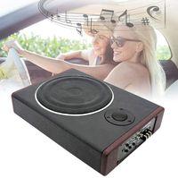 8 Zoll Aktiv Subwoofer Auto Untersitz Ultradünner HiFi Woofer Bass Music Player mit Schlank Metallhülle 600W