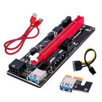 5Pcs 60cm VER009S PCI-E Riser-Karte PCIe 1x bis 16x USB 3.0-Datenkabel Bitcoin Mining