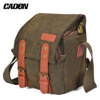 CADeN Canvas Schulterkameratasche Messenger Bag fuer 1 Kamera 1 Objektiv Kompatibel mit Nikon Canon  DSLR spiegellose Kamera und Objektiv