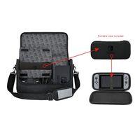 PowerA Nintendo Switch Tasche Everywhere Messenger Bag Umhängetasche Gepolstert, Farbe:Schwarz/Grau