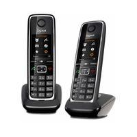 Gigaset C530HX Duo Schnurloses Telefon schwarz 4,6 cm TFT-Farbdisplay HD-Voice