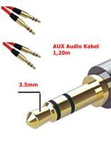 AUX Audio Kabel 3,5mm Klinkestecker Auto MP3 iPhone 1,20m# R2-E7-A