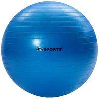 ScSPORTS® Gymnastikball Ø 65 cm, blau, inkl. Pumpe, Sitzball zur Entlastung der Wirbelsäule, Yogaball, Fitnessball