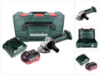 Metabo W 18 LTX 125 Akku Winkelschleifer 18 V 125 mm + 1x Akku 8,0 Ah + Ladegerät + metaBOX