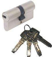 ABUS EC550 Doppelzylinder Länge (a/b) 28/34mm (c=62mm) mit 4 Schlüssel, Not-u. Gefahrenfunktion und SKG** Bohrschutz