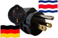 Urlaubsadapter Costa Rica für Geräte aus Deutschland