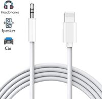 Aux Kabel Auto für iPhone 7 kopfhörer Adapter 3,5 mm Aux Kabel kompatibel mit iPhone 8/8Plus/X/XR/XS zubehör Audio Kabel zum Auto/Zuhause Stereo & Kopfhörer, Autoradio Unterstützt alle iOS-Weiß 3ft/1m