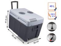 Tristar KB-7540 Kühlbox, Grau, 40 l, 18 °C, Elektro, AC, Zigarettenanzünder, 220 - 240 V