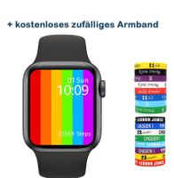 W56 Smartwatch Uhr 6 1: 1 Design 1,75 '' Display kabelloses Ladegerät Herzfrequenz EKG IP68 wasserdichte Smartwatch Schwarz