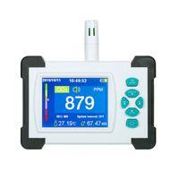 Kohlendioxid-Detektor mit wiederaufladbarer Batterie Tragbarer CO2-Meter-Tester für Kohlendioxid-Luftqualitäts-Detektor CO2-Meter-Monitor mit Aufbewahrungskoffer
