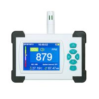 Kohlendioxid-Detektor mit Akku Tragbarer CO2-Meter-Tester fuer Kohlendioxid-Luftqualitaets-Detektor CO2-Meter-Monitor mit Aufbewahrungskoffer