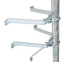 PremiumX Sat-Mauerhalter Wandabstandshalter Wandabstand 40cm für Mast bis Ø 60mm aus verzinktem Stahl