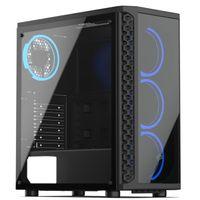 SilentiumPC Signum SG1X TG Pure Black - PC - Schwarz - ATX,Micro ATX,Mini-ITX - Gaming - Taschenlüft