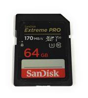 SANDISK SDXC Extreme Pro 64 GB 170 MB / s UHS-I V30 U3 C10