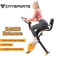 Citysports F-Bike - Fahrradtrainer , X-BIKE Ergometer, Heimtrainer, Fitness-Bike, Cardio-Bike, integrierter Handpulsmesser, Klappbar Hometrainer 110 kg max. Belastung, 8 einstellbare Widerstandsstufen