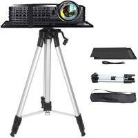 WISFOR Beamer Stativ Aluminum Projektor Ständer Höhenverstellbar Bodenständer für Laptop Notebook und Projektor mit Tasche