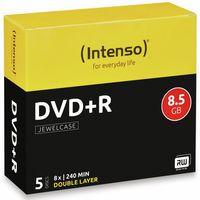 Intenso DVD+R 8.5GB, DL, 8x, Schmuckkasten
