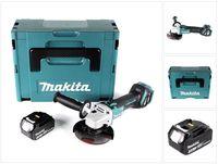 Makita DGA 511 F1J Akku Winkelschleifer 18V 125mm Brushless + 1x Akku 3,0Ah + Makpac - ohne Ladegerät