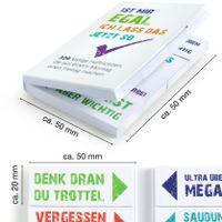 Bunte Klebezettel für Studenten 600 Blätter Lustige Haftnotizen 12 x 50 Blatt