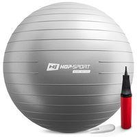 Hop-Sport Gymnastikball inkl. Ballpumpe, 75cm, Maximalbelastbarkeit bis 100kg, Fitnessball ideal für für Yoga Pilates, Balance  - Silber HS-R085YB