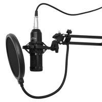 Studio- und Streaming-Mikrofon Kondensatormikrofon Set mit Mikrofonständer und Popschutz Studiomikrofon