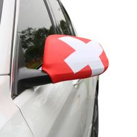 "Auto Außenspiegel Fahne Set ""Schweiz"" Switzerland Bikini Flagge EM WM"