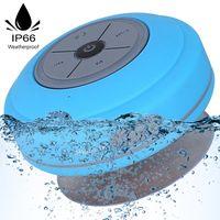 Bluetooth Dusch Lautsprecher Wasserfester Wireless Speaker mit FM Radio Tragbarer Wireless Duschradio Super Bass Eingebautes Mikrofon für Strand, Pool, Küche & Home