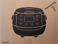 Reishunger Digitaler Reiskocher (860W/1,5l), Schwarz, für bis zu 8 Personen, Multikocher mit 12 Programmen, Timer- und Warmhaltefunktion