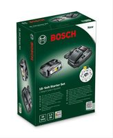 Bosch Starter-Set 18 V 18-Volt Li-Ion Akku + Schnell-Ladegerät
