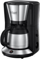 Russell Hobbs 24020-56 Adventure Thermo-Kaffeemaschine Edelstahl gebürstet / schwarz, Farbe:Edelstahl
