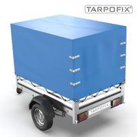 Tarpofix® Hochplane 210x115x130 cm - Anhängerplane Abdeckplane für STEMA OPTI AN F 750 850 I PKW Anhänger Abdeckplane