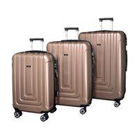 Valis® 3-teiliges Reisekoffer-Set, Hartschalenkoffer, Rose Gold