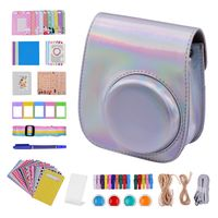 12-in-1-Sofort-Kamerazubehör-Bundle-Kit für Fujifilm Instax Mini 11 Inklusive Kameratasche / Kameragurt / Fotoalbum / Fotoclips / Fotorahmen / Aufhängesaite / Aufkleber / Stift / Filter
