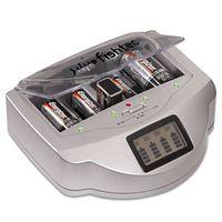 FISHTEC ® Ladegerät Universal-Batterien C/D/AA/AAA/6LR61 NiCd NiMH + Alkaline