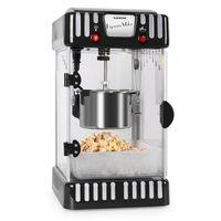 Klarstein Volcano - Popcornmaschine, Popcorn-Maker, Popcorn-Bereiter, 50er Jahre Retro-Design, 300 Watt Rührwerk, kurze Aufheizdauer, Edelstahl-Topf, Innenbeleuchtung, ca. 60 l/h, schwarz