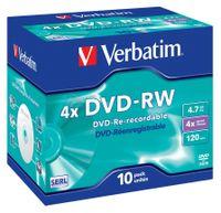 Verbatim DVD-RW Matt Silver 4x, DVD-RW, Polycarbonat, Mattsilber, Schmuckkasten