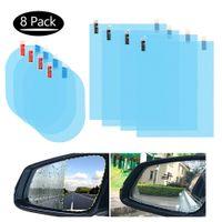 4PCS Auto Rückspiegelfolie, Auto Seitenspiegel, HD Nano Folie Antibeschlag Blendregen Wasserdichte Spiegel Fensterfolie, Klarer Schutzfolienaufkleber für Autospiegel -