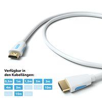 JAMEGA - 10m HDMI Kabel Weiß 1.4a / 2.0 Ultra HD 4k| High Speed with Ethernet | neues Modell 3 fach geschirmt / inkl. Stecker- und Kontaktschirmung | 4K Ultra HD 2160p / Full HD 1080p | 3D / ARC / CEC |weiss